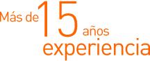 Más de 15 años de experiencia