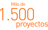 Más de 1.500 proyectos