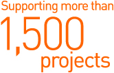 Supporting more than 1,500 projects