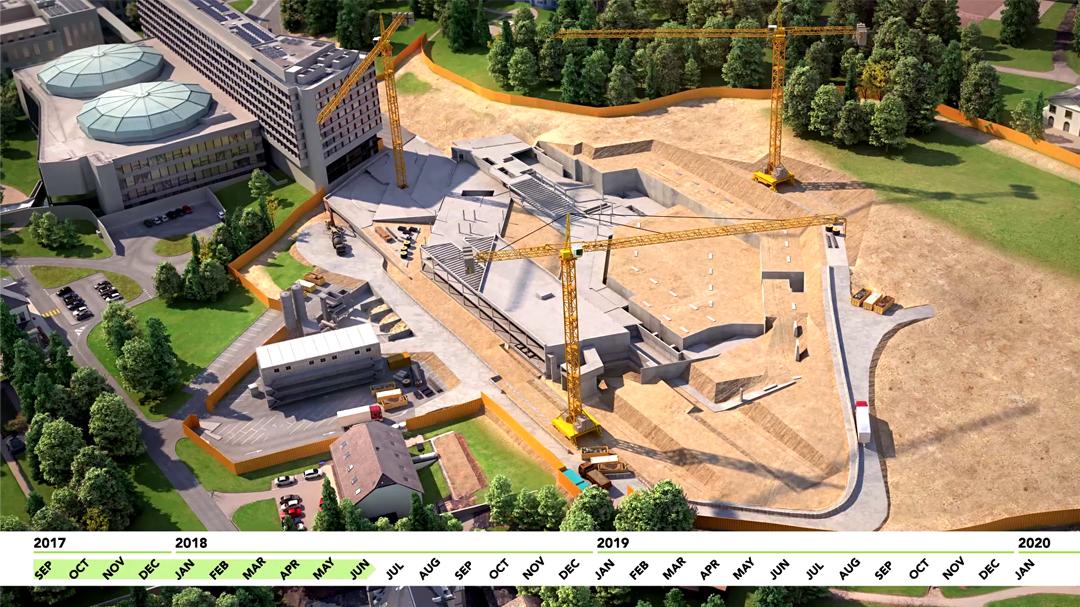 Produccioón 3D Nuevo Edificio de Oficinas Naciones Unidas, Ginebra